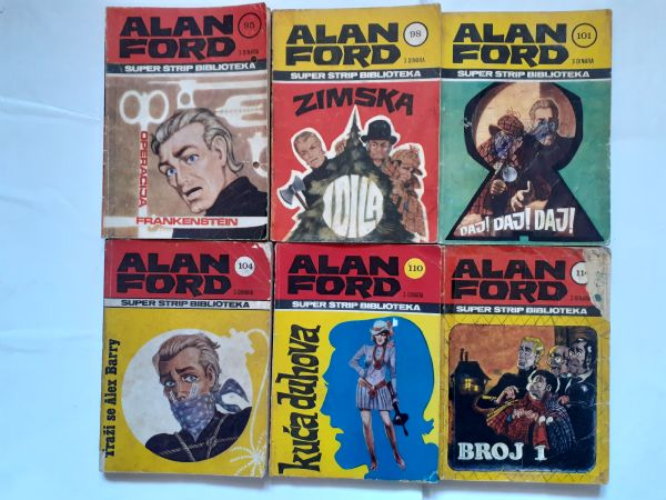 #Lot od 6  stara Alan Ford Superstrip od 1 kune!